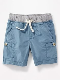 Jersey-Waist Poplin Cargo Shorts for Toddler Boys Old Navy Toddler Girl, Toddler Boy Outfits, Cute Outfits For Kids, Toddler Boys, Toddler Chores, Kids Shorts, Boy Shorts, Unique Baby Clothes, Boys Swimwear