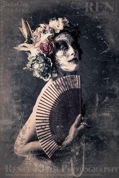 Model & Makeup: Rachael Domingo, Hair: Chaunsey Hildebrandt, Photography: Renee Keith ~ Sugar Skull