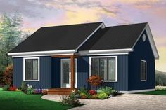 House Plan 034-00286 - Traditional Plan: 948 Square Feet, 2 Bedrooms, 1 Bathroom