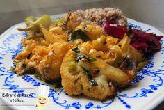 Květák pečený v troubě ~ Zdravě a hravě s Nikou Grains, Vegan Recipes, Rice, Chicken, Meat, Food, Vegane Rezepte, Essen, Meals