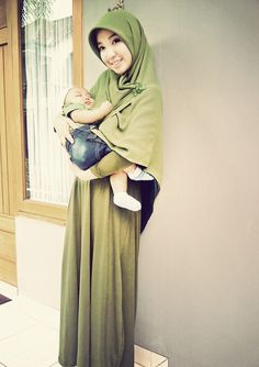 match outfit with my nephew! Army Green for today! yayy #Hijab style