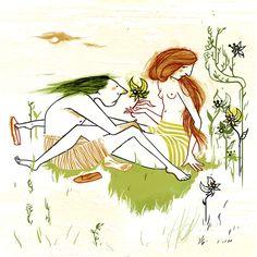 """Conversazione in giardino"" -  oct 2013 - www.lasemiretta.blogspot.it"