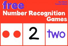 Boy Mama Teacher Mama  FREE Number Recognition Games