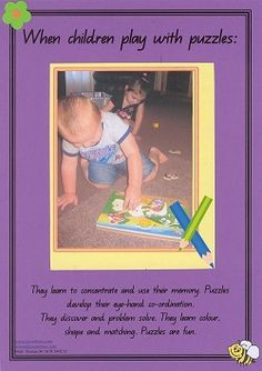 Play with Puzzles - Developmental Poster