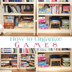 How to organize your games with tips and ideas for small spaces.