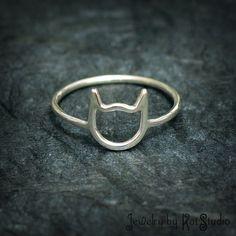 Cat Ring - handmade - Sterling Silver 925 - Jewelry by Katstudio by Katstudio on Etsy