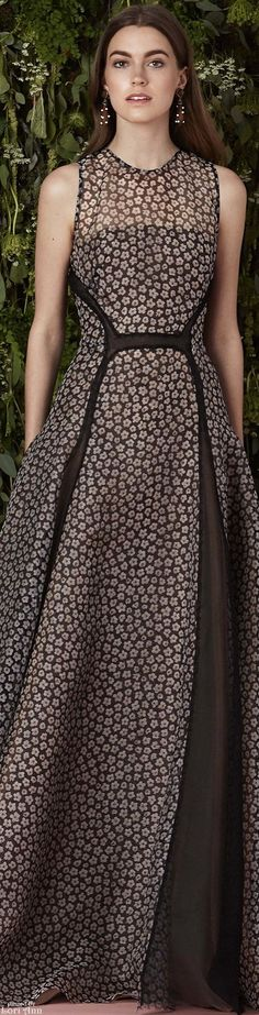Lela Rose Resort 2016 w different neckline and pattern on the fabric