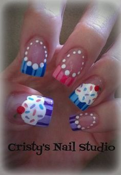 Cupcake by cristy27 - Nail Art Gallery nailartgallery.nailsmag.com by Nails Magazine www.nailsmag.com #nailart