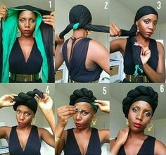 """rockinthelocs: """" National Head wrap day is November 20th, 2014. Here is an idea. Source: @mimipep on instagram. """""""