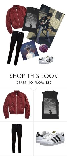 """TROYE SIVAN"" by aafzal ❤ liked on Polyvore featuring Yves Saint Laurent, Topshop, Paige Denim and adidas Originals"