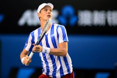Tomas Berdych, SF, 23 January 2014. - Ben Solomon/Tennis Australia