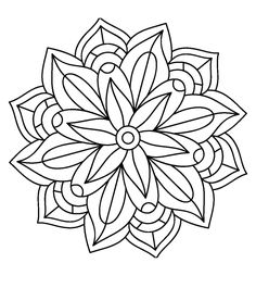 Adult Coloring Book Pages, Mandala Coloring Pages, Colouring Pages, Coloring Sheets, Coloring Books, Mandala Painting, Mandala Art, Cd Art, Quilting Templates