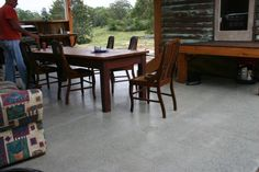 Polished concrete durability, finished with Nu-Tech Pavecoat satin, with non slip additive