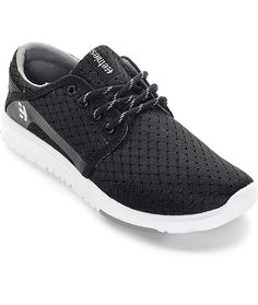hot sale online cb8e8 3c407 Etnies Womens Scout Athletic Sneaker Black White Size 8 Brand New With Box   60  etnies