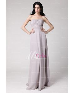 Chiffon Sequins A-line Strapless Sleeveless Zipper Floor Length Jacket Gray Mother Of The Bride Dresses Bride Groom Dress, Bride Dresses, Bridesmaid Dresses, Prom Dresses, Wedding Dresses, Affordable Formal Dresses, Formal Dresses For Women, Beaded Chiffon, Mothers Dresses