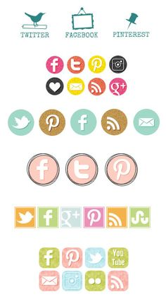 Free giveaway on the blog this week! Win a set of personalized social media buttons, designed by My Cute Lobster Designs!