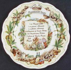 Brambly Hedge Recipe Plate by Royal Doulton | Replacements, Ltd. Strawberry Kitchen, Strawberry Recipes, Mushroom Tart, Brambly Hedge, Stuffed Mushrooms, Stuffed Peppers, Tart Recipes, Royal Doulton, Strawberry Shortcake