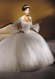 For a woman who wants to have a royal wedding look, choosing princess wedding dresses is the right decision. A princess wedding dress will make you look like a real princess. This style of bridal d… Princess Wedding Dresses, Dream Wedding Dresses, Bridal Dresses, Wedding Gowns, Lace Wedding, Cinderella Wedding, Trendy Wedding, Luxury Wedding, Wedding Ideas
