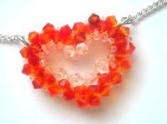 Swarovski Open Heart Necklace by SmileykitCreations on Etsy, $15.00