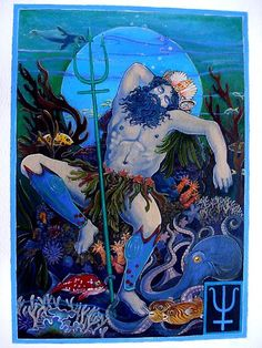 NEPTUNE The Visionary   Mystery,dreams and intoxication In our daily life we may experience the qualities of Neptune through the transporting beauty and exquisite appreciation of music,dance,sunsetsand quiet beaches, and the creativity thus inspired. Neptune represents that in us which craves a sense of oneness with life, a sense of purpose,and connection  with our daily existence.  Neptune rules the sign of Pisces  In the body it rules the pineal gland  and the feet.