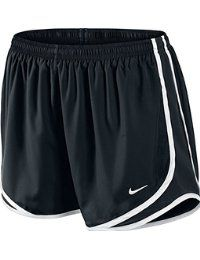 Nike Tempo 716453-010 - Pantalones cortos para mujer, color negro / blanco, talla M
