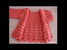 How to crochet a chunky star stitch baby cardigan / sweater / jumper - YouTube