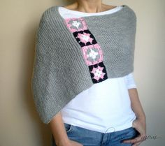 Crochet inspiration ~ light grey capelet
