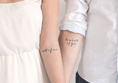 Lovebird Tattoo / Fake Tattoo / Freundschafts Tattoo / Temporäres Tattoo / Kleines Tattoo Zitat Tattoo Liebe Tattoo von temp tat