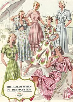 The Haslam System of Dressmaking No. 20  1950's  by MyVintageWish