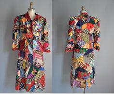 vintage rare 1930s oneofakind hand stitched, wonderful idea ---