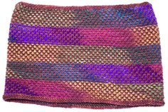 Half Linen Stitch with different colors, stacked and periodically re-positioned.