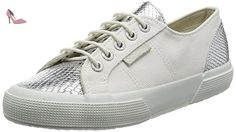 Superga 2750 Cotleasnakeu, Baskets Basses Mixte Adulte, Multicolore White (White Silver), 35 EU - Chaussures superga (*Partner-Link)