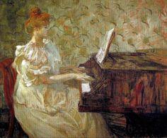 Henri de Toulouse-Lautrec. Misia Natanson au piano, 1897