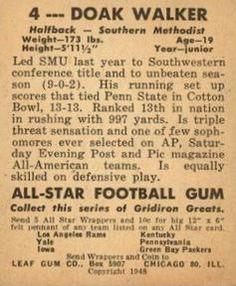 1948 Leaf #4 Doak Walker Back