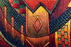 /// Handwoven Tapestry Art. Detail. The Museo Máximo Laura's Collection. /// www.museomaximola... #MuseoMaximoLaura #Cusco #Peru #TapestryArt #weaving #tissage #fiberart #textileart #Colorful #Textures #Alpaca #PeruvianTextiles