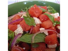Watermelon, Mint and Basil Salad