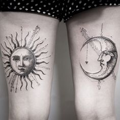 Sun and moon for Gemma's first tattoos today! Thanks 🙏🏼