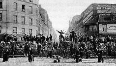 A barricade in the Paris Commune, March 18, 1871. Around 30,000 Parisians were killed, and thousands more were later executed  paris commune | Tumblr