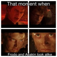 Was just a thought but then it turned out to be true 0_o. Star Wars vs lord of the rings frodo anakin