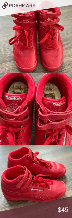 4bb4d7c9e4e Reebok Freestyle Hi Worn once!! Great condition!! Reebok Shoes Athletic  Shoes
