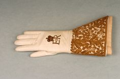The original coronation glove worn by H.M. Queen Elizabeth II at her coronation on 2nd June 1953.