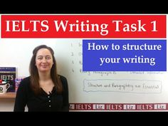 Paragraphs in IELTS writing task how to organise your writing. This lesson gives advice about the format and structure of your task 1 report. Ielts Writing Task 2, Ielts Reading, Writing Test, Essay Writing Tips, Academic Writing, English Writing, English Study, English Lessons, Writing Skills