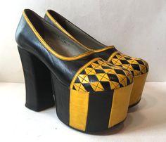 Vintage 70s platforms - super high 1970s platform shoes - 1970s platforms…
