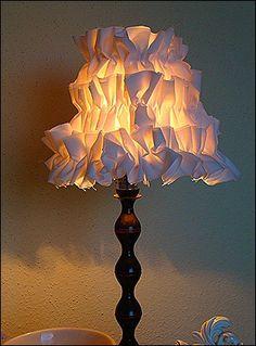 Ruffled Lamp Shade Tutorial