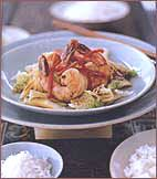 Napa Cabbage Recipe Stir-Fry with Shrimp or other meat   This recipe is simple, and has fantastic flavors. Use the sauce, garlic, ginger and Napa Cabbage as a base, adding any meat you want to use, and veggies. Just the right flavors, but do add a bunch of fresh cilantro at the end- so good.