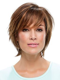 Style Hand-tied Straight Brown Short Wigs Short Curly Wigs - March 23 2019 at Short Shag Hairstyles, Haircuts For Curly Hair, Short Hairstyles For Women, Straight Hairstyles, Curly Hair Styles, Pixie Haircuts, Pixie Styles, Black Hairstyles, Natural Hairstyles