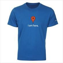 Google Organic Maps Blue Tee