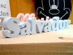 Nome Salvador em MDF http://decoclock.net/portfolio/nomes-mdf/