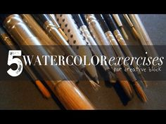 Fun Watercolor Workout Exercises to Learn About & Play with Paint - YouTube