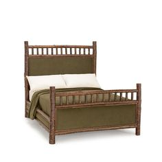 Bed Queen #4243 shown in Natural Finish (on Bark)